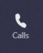 The Calls icon on Teams