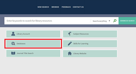 LibrarySearch Databases