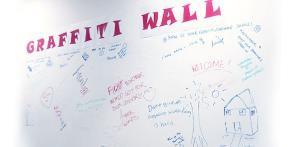 student feedback wall