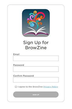 BrowZine sign up