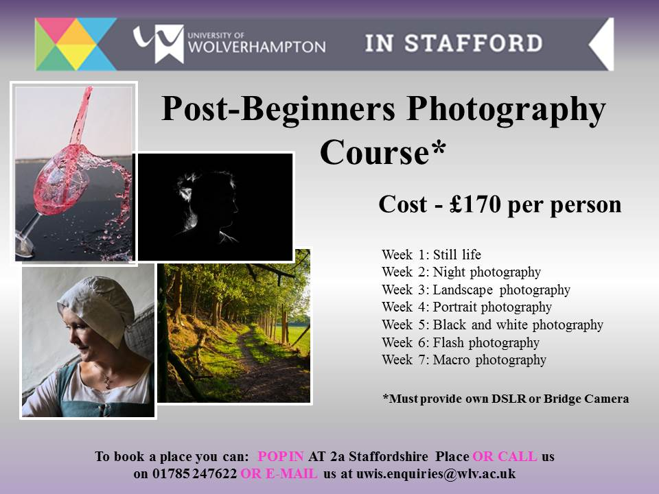 February - Post-Beginners Photography Course - University of
