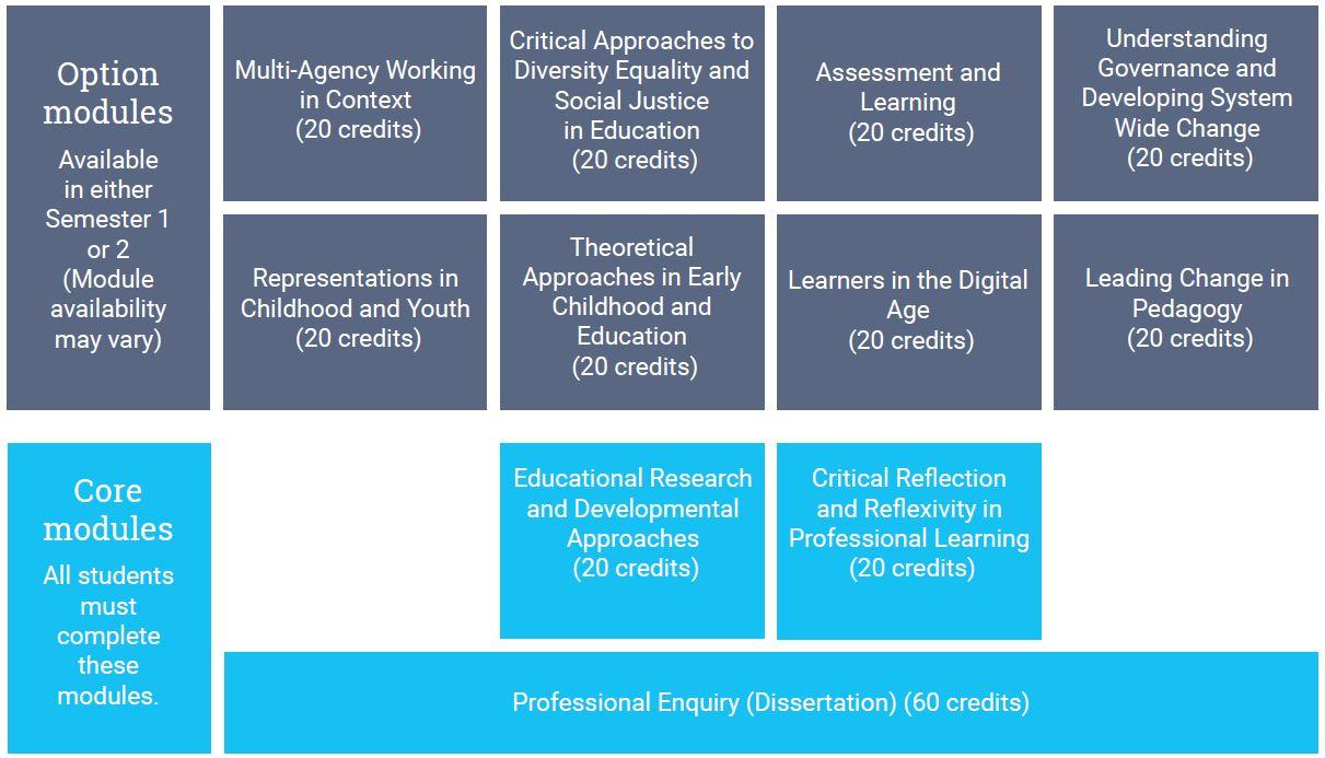 MA Education modules
