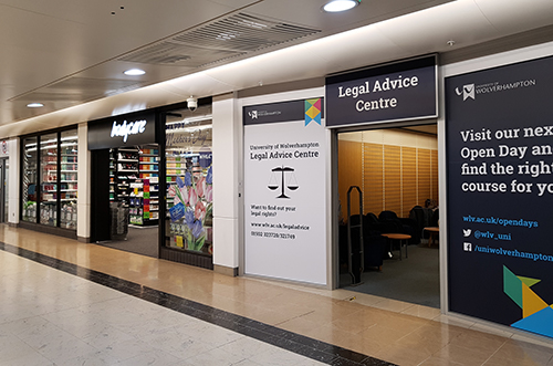 Legal Advice Centre located next to Bodycare