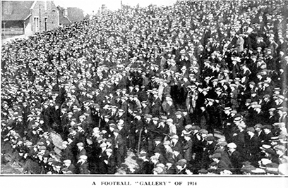 Craven Cottage crowd 1914