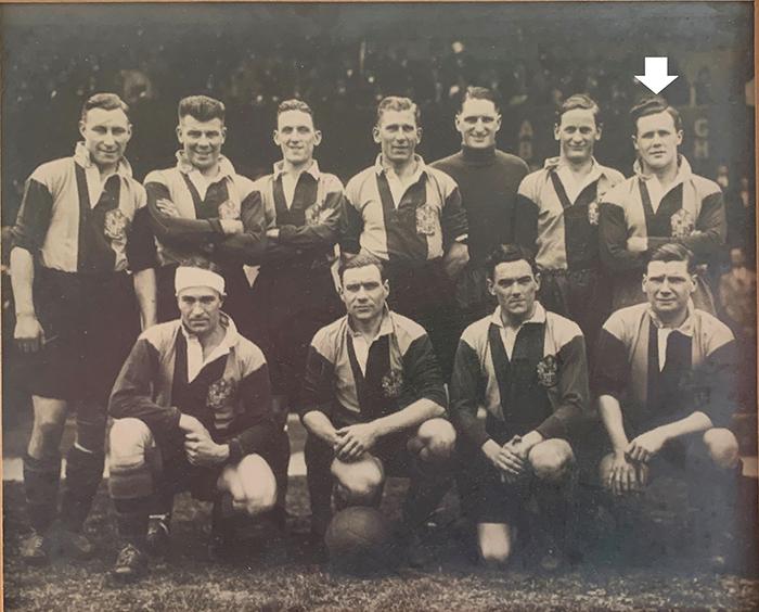 DHFC Team 1937 – 1937 with Bert Humphreys highlighted (Dulwich Hamlet FC)