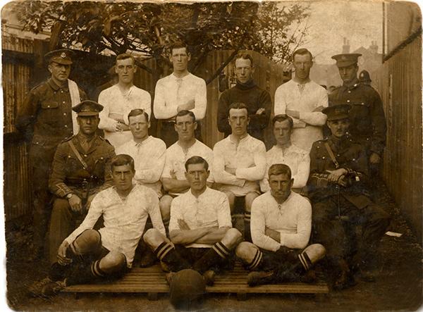 Footballers' Battalion team, Elm Park, Reading, 4 September, 1915