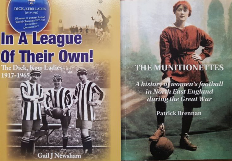 Books by Gail Newsham and Patrick Brennan - Women's Football History Pioneers  (Source: Author's collection)