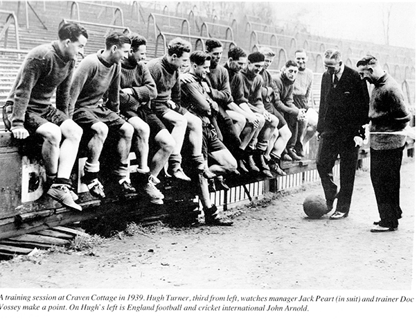 Manager Jack Peart at Fulham Training session