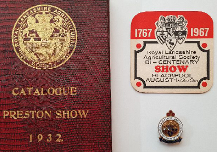 Royal Lancashire Agricultural Show programme shows how it moved each year (Source: Author's collection)