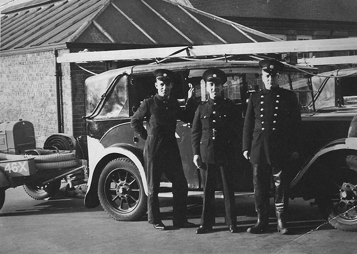 Typical Group of AFS Firemen (author's collection)