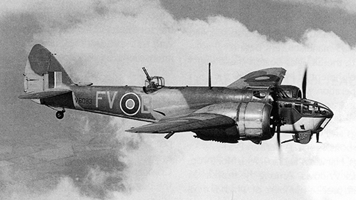 Bristol Blenheim Bomber as in flown in by Donald Homer. Stock Photo