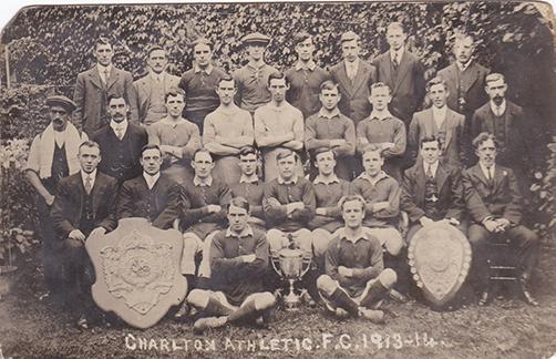 Charlton Athletic 1913-14 Season Team Photograph Postcard: Source: Charlton Athletic Museum