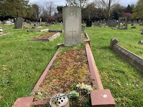Donald Homer's grave at Dartford Watling St Cemetery.  Photo: Brandon Smith
