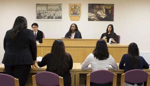 Get some practice in the mock law court
