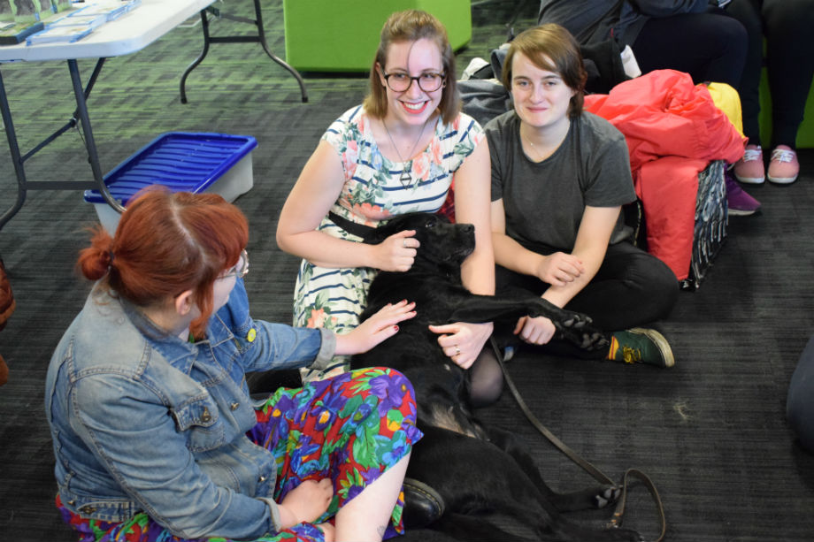 Students' Union doggy de-stress