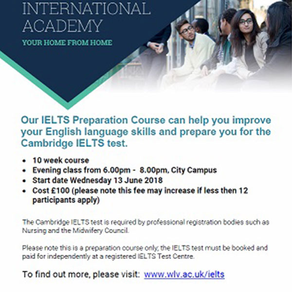 IELTS course starts on June 13