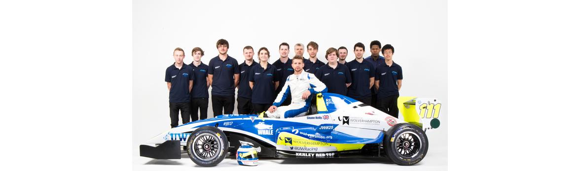 University of Wolverhampton F3 Race Team and Renault Car