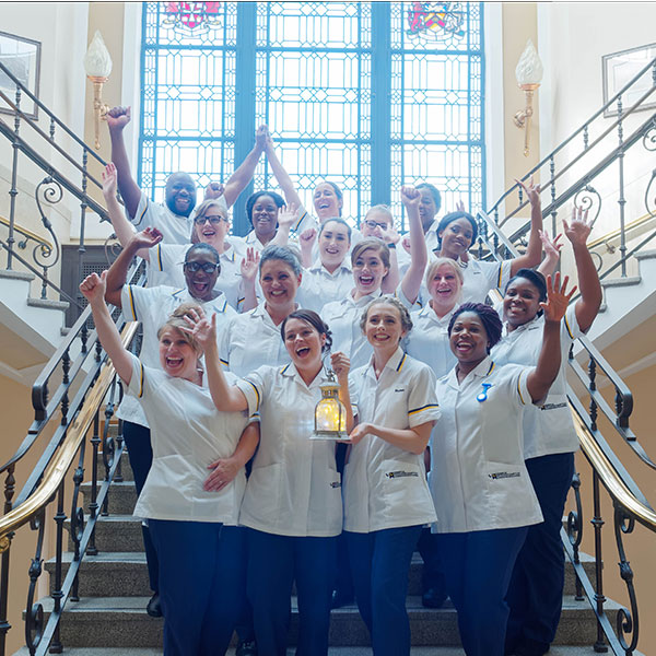 nurses lamp procession ceremony