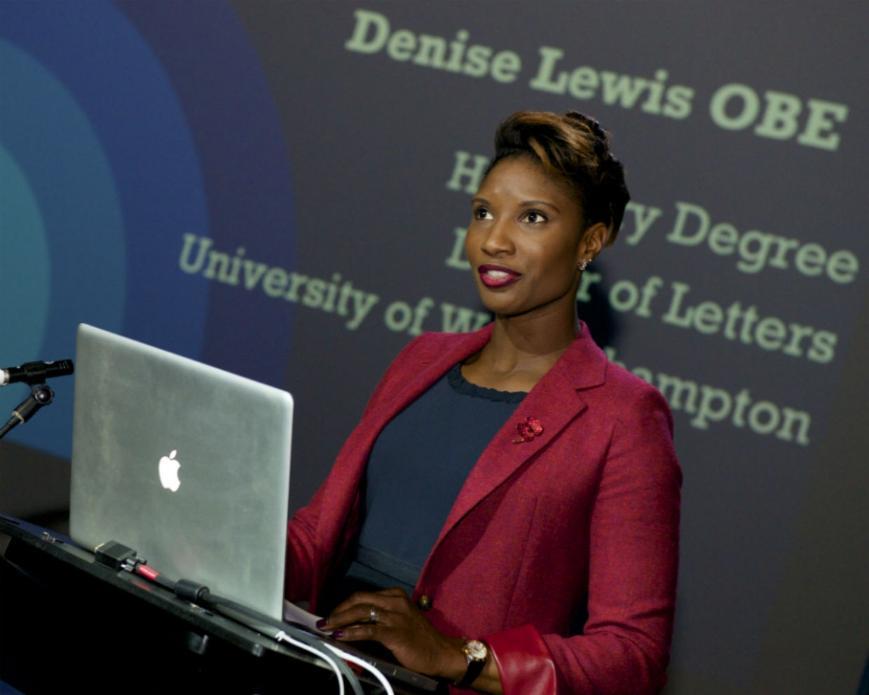 Denise Lewis, Institute of Sport Launch