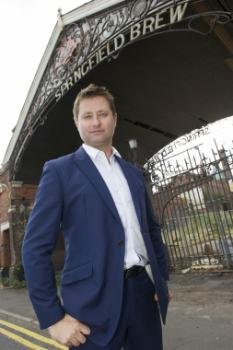 George Clarke visiting the university's Springfield campus