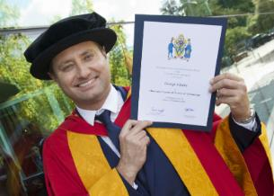 Honorary graduate of 2015 George Clarke