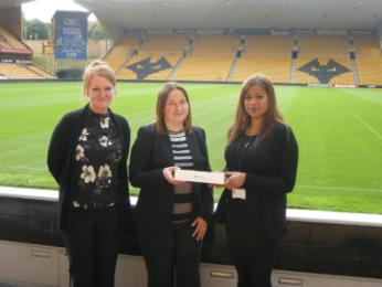Laura Gabbidon, Marketing Manager at Wolverhampton Wanderers Football Club, Joanna Terry, Employer Liaison Co-ordinator for The Workplace, University of Wolverhampton, Dipisha Patel, University of Wolverhampton Business Management Graduate Class of 2015
