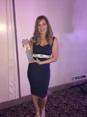 Rebecca Fleming has won a prestigious European award for her inspirational work in quantity surveying