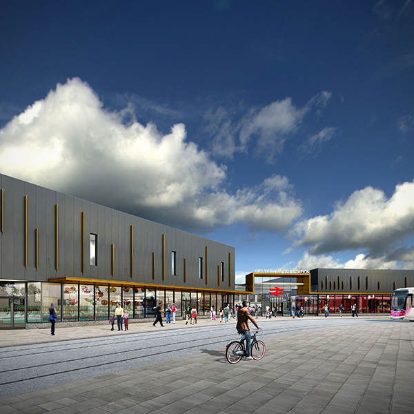 Image of new Wolverhampton Station