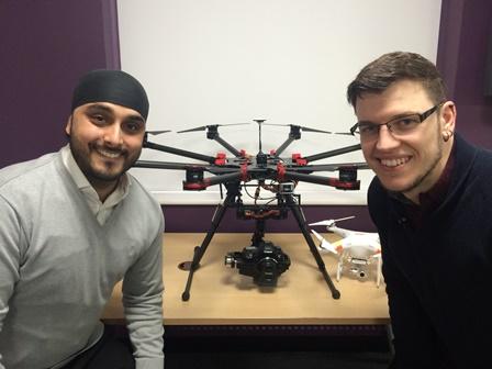 Technicians pass drone pilots' licences