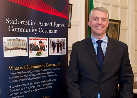 A new Armed Forces Co-ordinator, David Thompson, has been appointed.