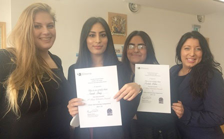 Law students take part in a Client Interviewing Competition in the Court Room
