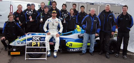 The UWR Race Team bag a hat trick of podium wins at Donginton Park in the F3 Cup Championship.