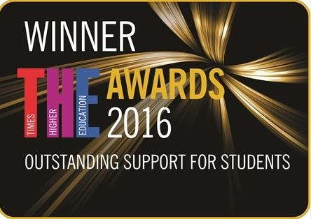 November 2016 - National award for outstanding support for students