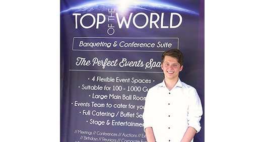Adam Checkley at top of the world