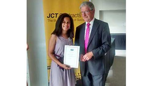 Angelica Salas Contruction Award