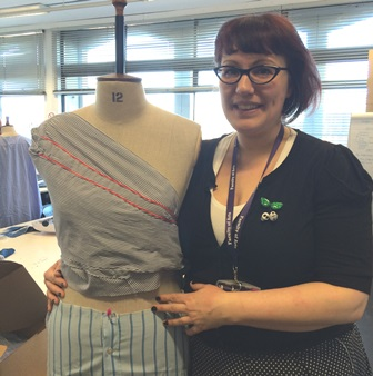 First Year Fashion & Textiles students get into upcycling of shirts