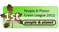 First Class Award and ranked 39 out of 143 universities in the People & Planet Green League 2013