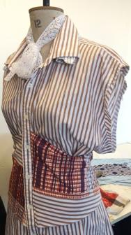 First Year Fashion & Textiles students upcycle old men's shirts