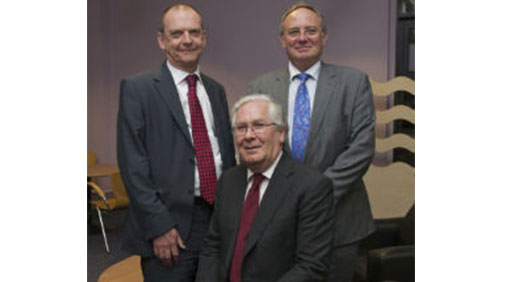 Professor Geoff Layer, Sir Mervyn King and Simon Warren