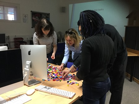 A photo taken from the Lego Serious Play session, led by Dr Bianca Mitu from the University.