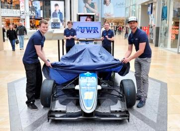 F3 Cup Car being unveiled at the Bullring Birmingham