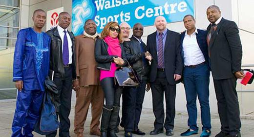 Roger Milla visits Walsall campus