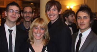 L-R: Steve Evans, Michalis Micheal, Rahela Jagric, Matt Bennett and Pete Benfield