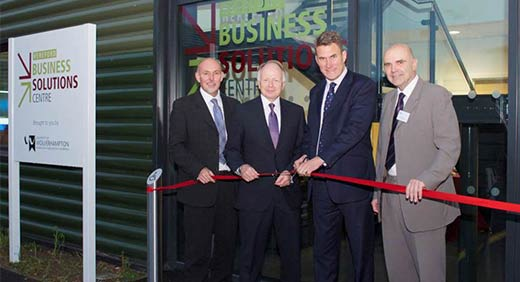 Hereford Business Solutions Centre opening button