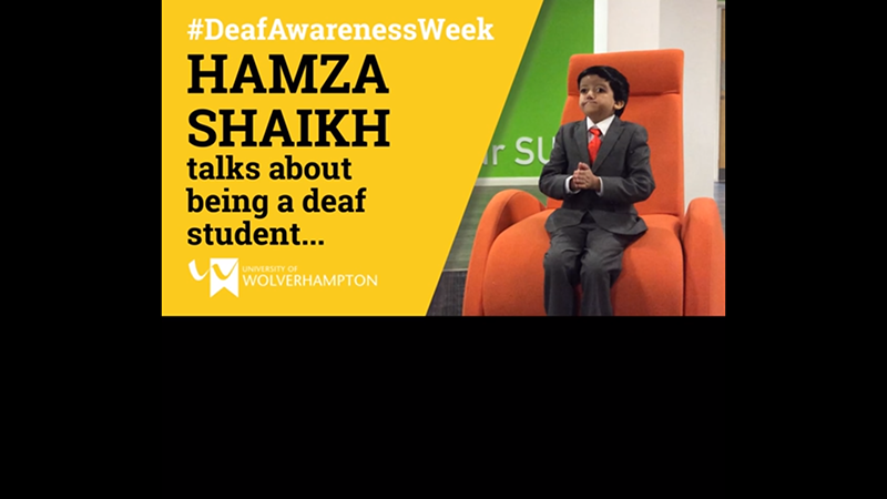 Hamza Shaikh - what it's like to be a deaf student at University of Wolverhampton