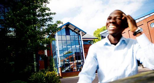 man smiling outside Telford